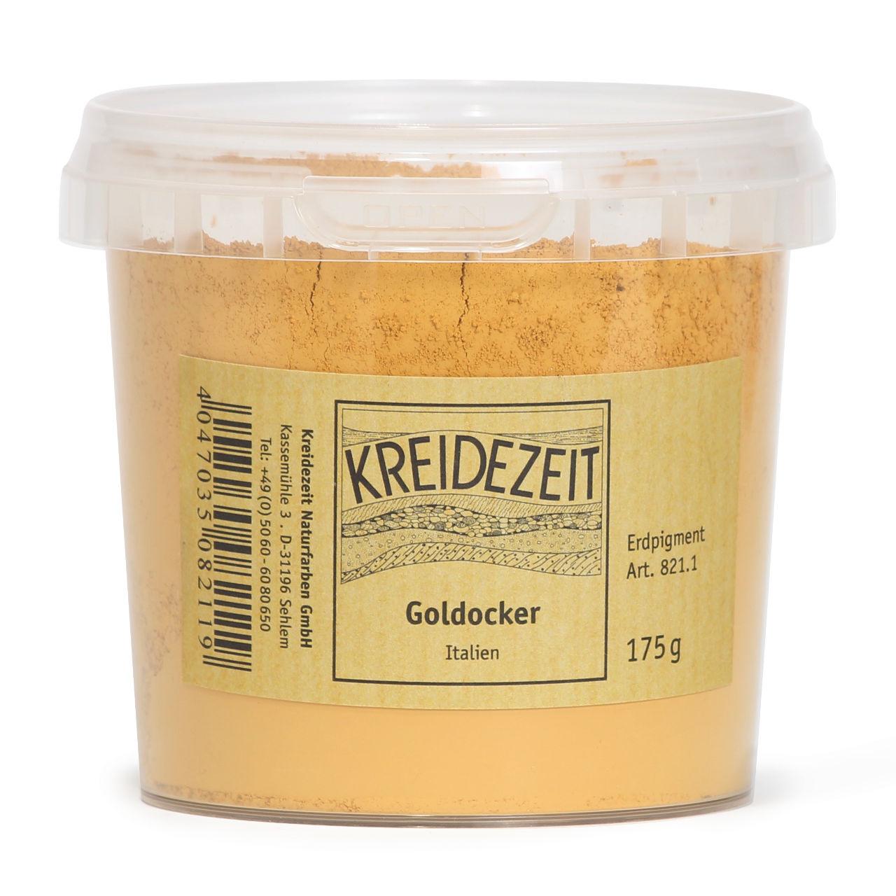 Kreidezeit Goldocker, Italien Pigment | Kreidezeit Naturfarben Shop