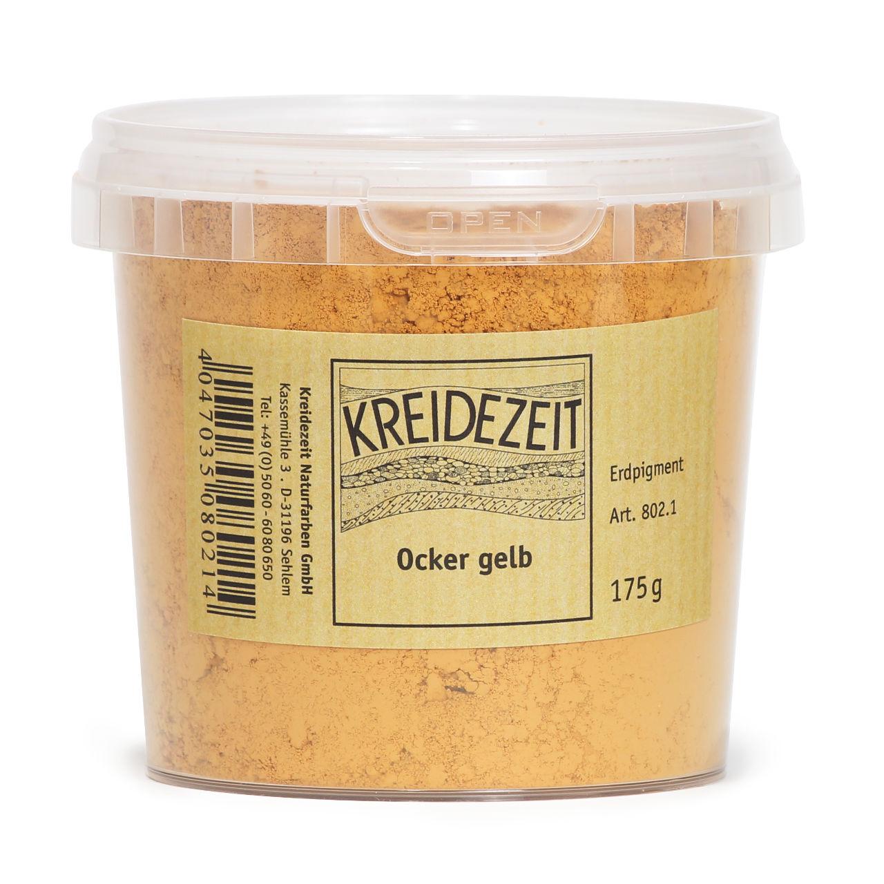 Kreidezeit ocker gelb pigment kreidezeit naturfarben shop - Wandfarbe ocker ...